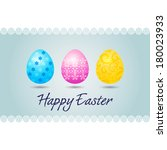 happy easter card   easter card ... | Shutterstock .eps vector #180023933