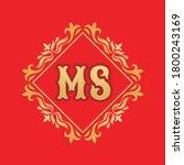monogram ms letters   concept... | Shutterstock .eps vector #1800243169