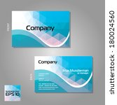 vector branded business cards... | Shutterstock .eps vector #180024560