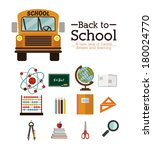 school design over white... | Shutterstock .eps vector #180024770