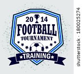 vector soccer badge   vector... | Shutterstock .eps vector #180025274