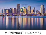 miami  florida  usa downtown... | Shutterstock . vector #180027449