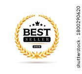 awords best seller badge logo... | Shutterstock .eps vector #1800290620