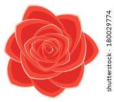 scarlet rose. eps 10. no... | Shutterstock .eps vector #180029774