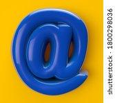 Blue Foil Alphabet Email At...