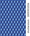 cubes pattern in blue color | Shutterstock . vector #1800301036