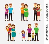 happy family. parents and... | Shutterstock .eps vector #1800310456
