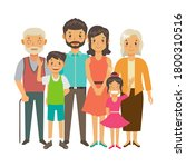 a happy family. parents and... | Shutterstock .eps vector #1800310516