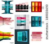 set of modern design template ...   Shutterstock .eps vector #180033650