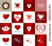 set of happy valentines day... | Shutterstock . vector #180036194