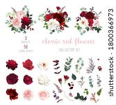 classic luxurious red and... | Shutterstock .eps vector #1800366973