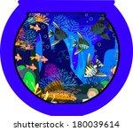marine aquarium with saltwater... | Shutterstock .eps vector #180039614