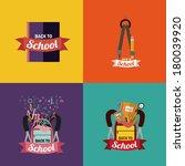 school design over colors... | Shutterstock .eps vector #180039920