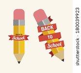 school design over white... | Shutterstock .eps vector #180039923