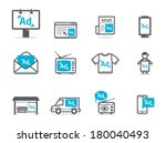 advertisement icons set | Shutterstock .eps vector #180040493