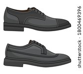 vector of office leather shoes  ... | Shutterstock .eps vector #1800469396