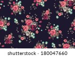 Stock vector cute seamless vintage flower pattern vector 180047660