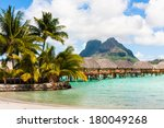 hotel of the bungalows standing ...   Shutterstock . vector #180049268