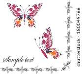 background with butterflies | Shutterstock .eps vector #180049766