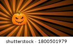 halloween banner with a creepy... | Shutterstock .eps vector #1800501979