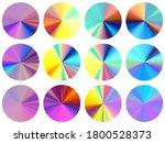 holographic radial metallic...