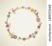 floral border illustration | Shutterstock .eps vector #180053468