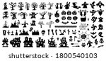 set of silhouettes of halloween ... | Shutterstock .eps vector #1800540103