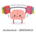 brain training. cartoon brain... | Shutterstock .eps vector #1800564010