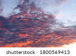 August Colorful Sunset Sky With ...