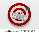 dart icons isolated on white... | Shutterstock . vector #180058520