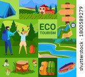 ecotourism concept vector... | Shutterstock .eps vector #1800589279
