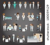 Medical Staff - Isolated On Black Background - Vector Illustration, Graphic Design Editable For Your Design