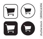 shopping cart icon symbol set.... | Shutterstock .eps vector #1800616306