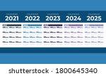 calendar 2021  2022  2023  2024 ... | Shutterstock .eps vector #1800645340