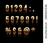 gold font set 2. file contains... | Shutterstock .eps vector #180065336