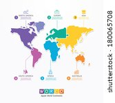 world infographic template... | Shutterstock .eps vector #180065708