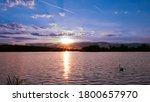 Sunset Or Sunrise On A Lake...