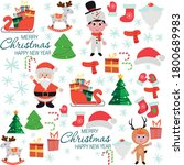 hand drawn of merry christmas... | Shutterstock .eps vector #1800689983