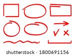 set of correction and highlight ... | Shutterstock .eps vector #1800691156