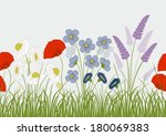 seamless pattern with wild... | Shutterstock .eps vector #180069383