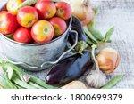 fresh vegetables. ripe red...