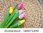bouquet from tulips | Shutterstock . vector #180071690