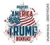 president trump 2020 shirt... | Shutterstock .eps vector #1800745243