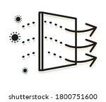 covid 19 micro clean air...   Shutterstock .eps vector #1800751600