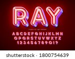 led light 3d alphabet  extra... | Shutterstock .eps vector #1800754639