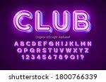 led light 3d alphabet  extra...   Shutterstock .eps vector #1800766339