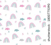 rainbow  colorful  clouds  pink ... | Shutterstock .eps vector #1800775390