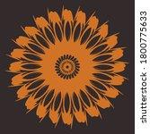 decorative round pattern ... | Shutterstock .eps vector #1800775633
