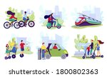 city electric transport set ... | Shutterstock .eps vector #1800802363