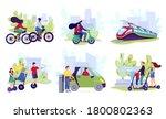 city electric transport set ... | Shutterstock .eps vector #1800802363